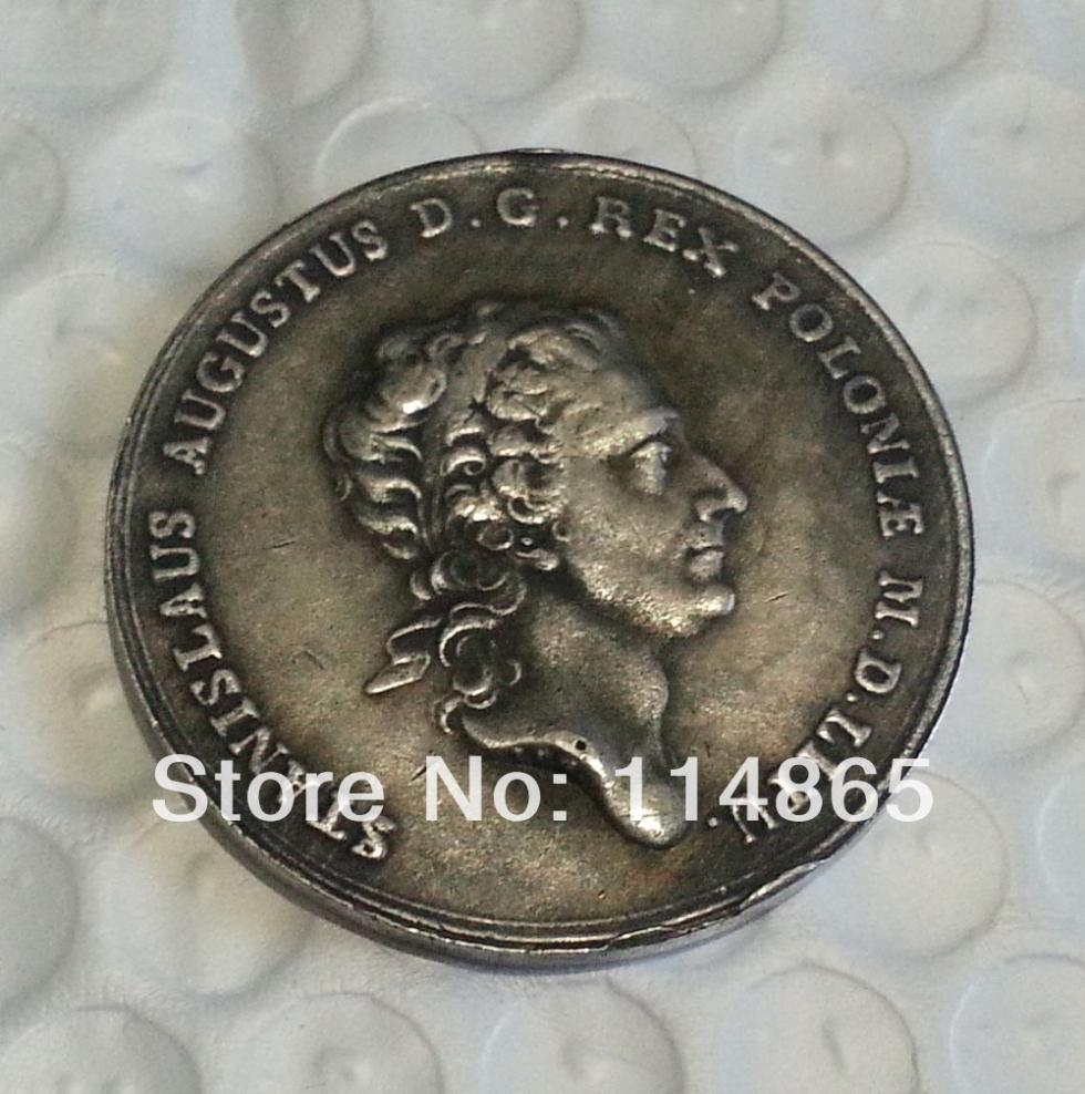 1771 Poland THALER S.A.P. - STANISLAUS AUGUSTUS Rex Pol COIN COPY FREE SHIPPING