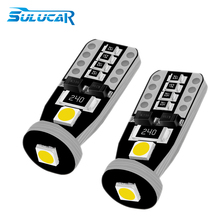 купить SULUCAR 2Pcs Car Light 194 W5W LED 168 3SMD Auto Turn Signal Side Clearance Lights T10 Led Super Bright White Lamp Bulb DC 12V дешево