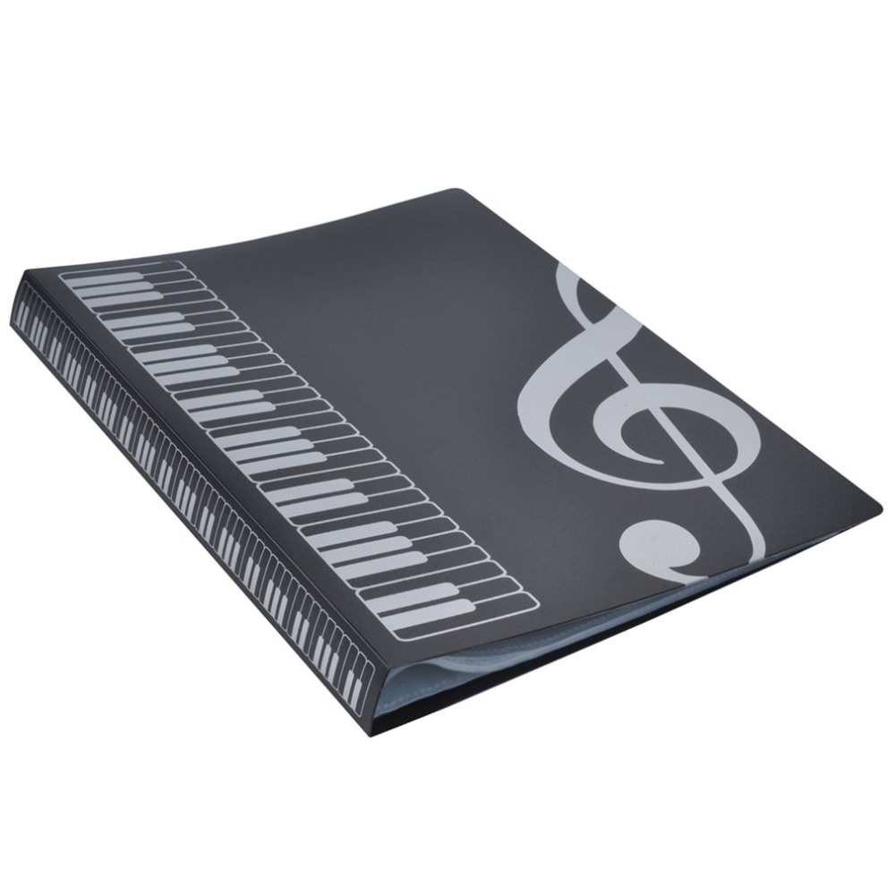 80 Sheets A4 Music Book Folders Piano Score Band Choral Insert-type Folder Music Supplies Waterproof File Storage Product