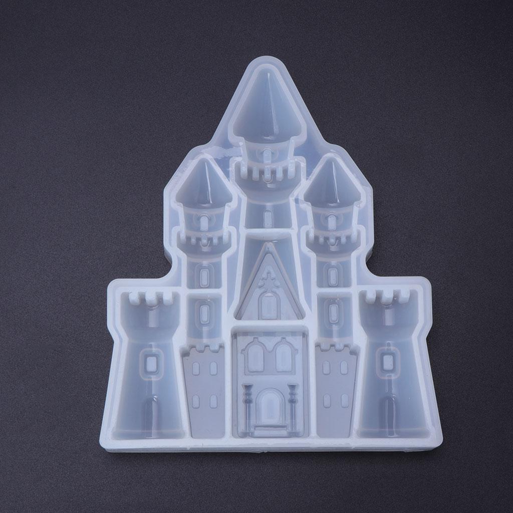 Silicone Mold Craft Castle Epoxy Resin Christmas Wedding DIY Jewelry Making Cake