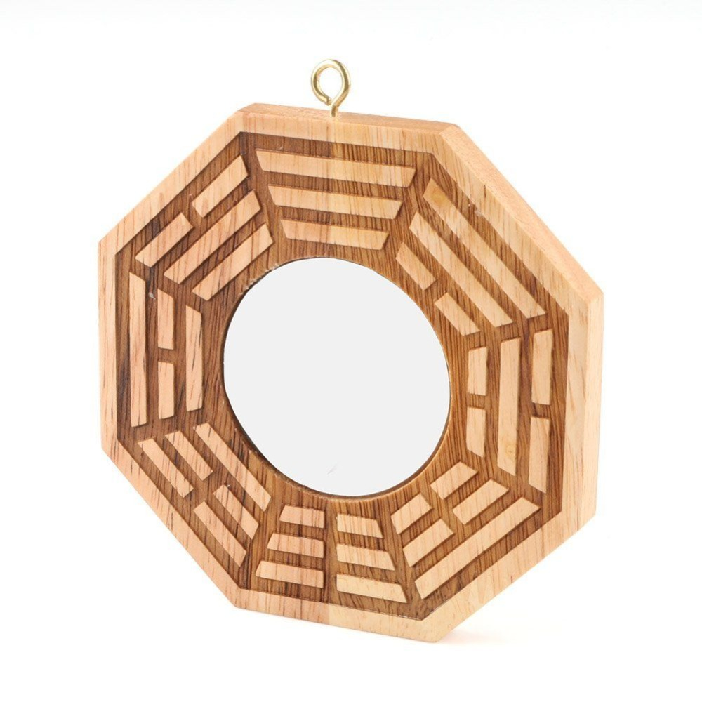 heresell Espejo Chino Tradicional de Feng Shui Bagua Espejo Convexo de 6 Pulgadas y Espejo c/óncavo