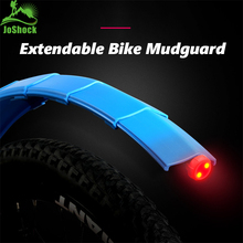 Joshock Bicycle Mudguard Mountain Bike Fenders Set Adjustable MudGuards with taillight Front/Rear