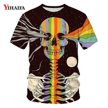 Newest Mens Womens 3D T-shirt Colorful Skull Graphic Tees Creative Design T Shirts Stylish Casual Short Sleeve Unisex Tops