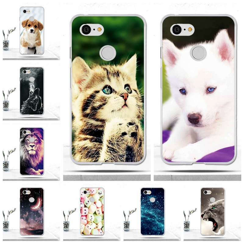 Covers For Google Pixel 3 Case Cover Soft TPU Silicon Phone Case For Google Pixel 3 Coque Fundas Cute Animal For Google Pixel 3