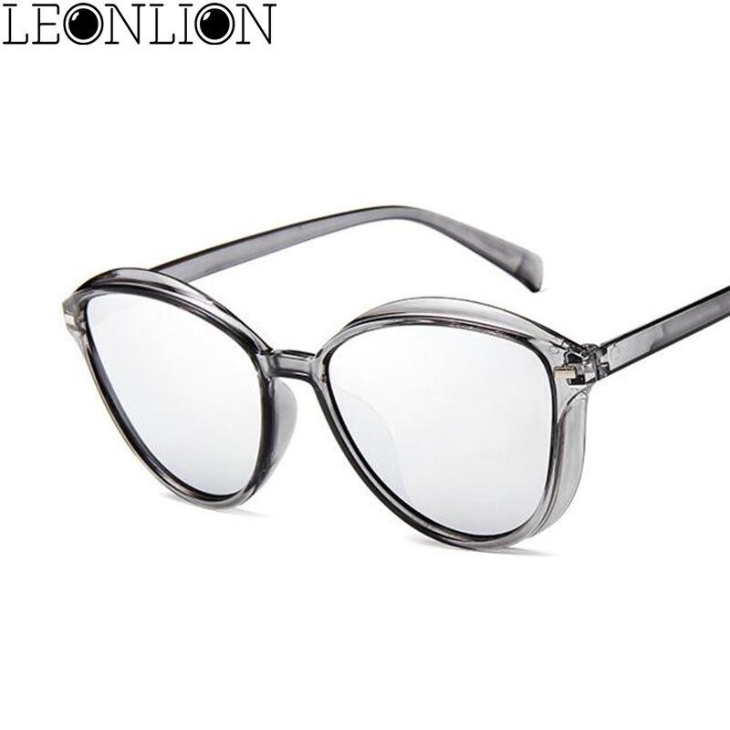 LeonLion Transparent Ocean Sunglasses Women Brand Designer Candy Colors Vintage Sun Glasses Outdoor Traveling Shopping Glasses