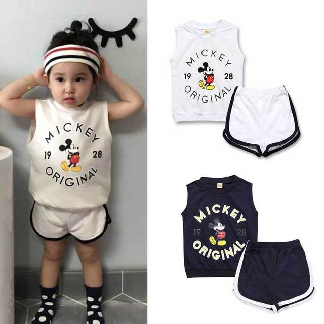 New Hot Toddler Girl Outfits Mickey Mouse Tracksuit Baby Boy Tracksuit Boy  Sports Suit Girl Garment - Aliexpress.com : Buy New Hot Toddler Girl Outfits Mickey Mouse