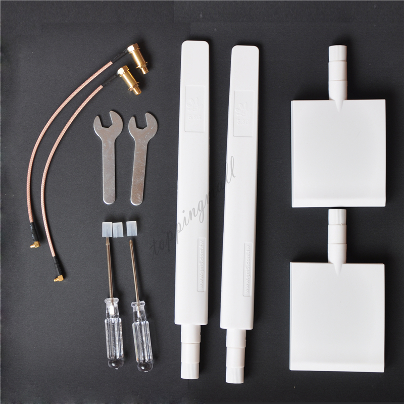 DJI Phantom 4 & 3 Advanced/PRO Inspire 1 WiFi Range Extender 2 Pannel 2 Long Antenna Kit White 3.5 To 7 Kilometer By ARGtek