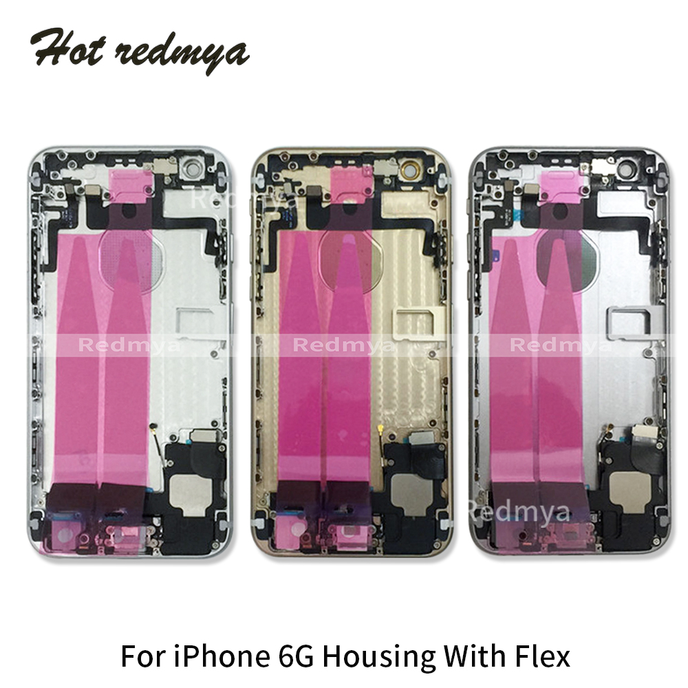 Image 2 - Full Housing For iphone 6G 6S 6S Plus Back Middle Frame Chassis Full Housing Assembly Battery Cover Door Rear With Flex Cable-in Mobile Phone Housings & Frames from Cellphones & Telecommunications