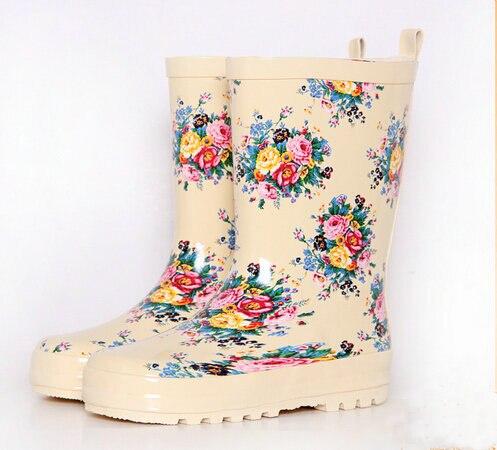 Бесплатная доставка 2017 Девушки сапоги обувь девушки детские Резиновая Сапоги Принцесса ботинки Резиновые сапоги детский boots16