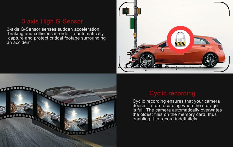 RUCCESS R40S 4G Dash Cam Car DVR Wifi GPS Camera Remote Monitor ADAS Smart Android 5.1 Dual Lens 1080P Nigth Vision Dashcam DVRs 14
