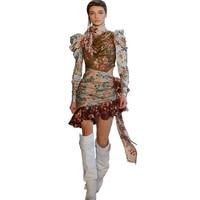Женское 2018 весеннее сексуальное платье с цветочным принтом на талии богемное вечерние короткое праздничное пляжное женское платье