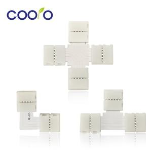 LED Strip Connectors 2Pin 4 Pin 5 Pin 10mm Free Welding Connector L Shape T Shape X Shape for LED Strip Light 5pcs/lot(China)