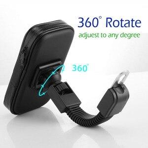 Image 3 - Motorrad Telefon Halter Für Samsung Galaxy S8 S9 S10 Für iPhone X 8Plus Unterstützung Mobil Fahrrad halter Stehen Wasserdichte für Moto Tasche