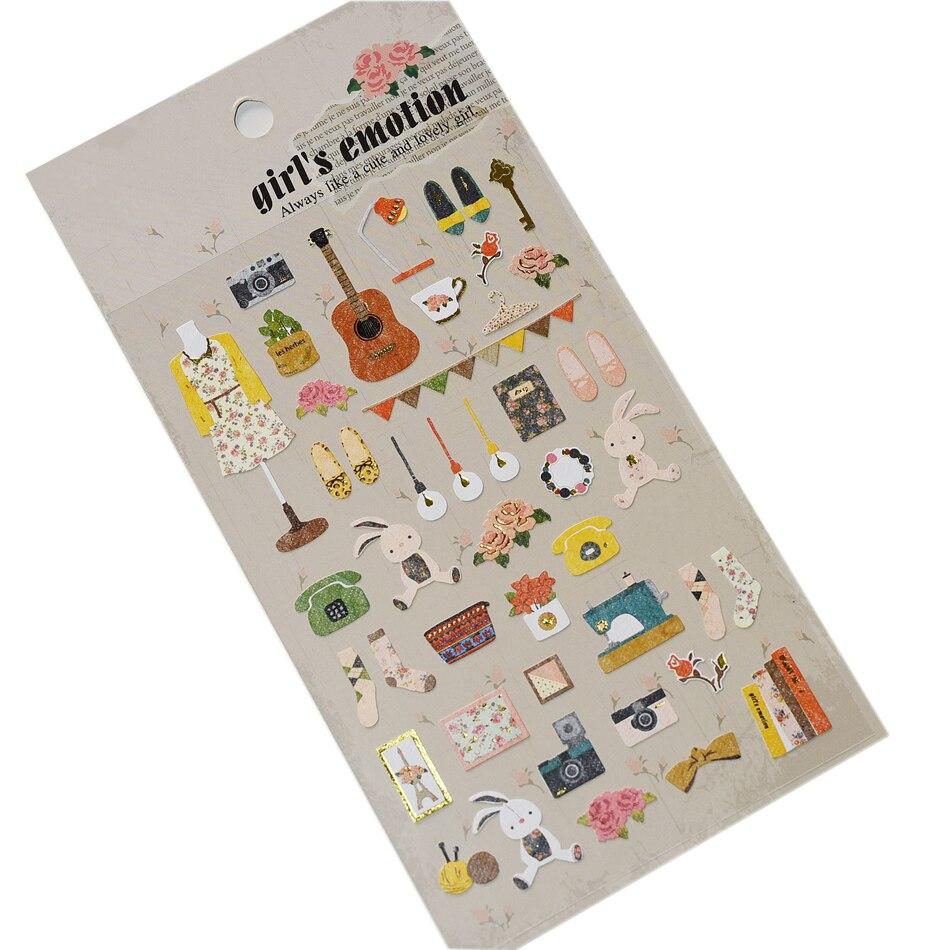 1 X Funny Sticker Diy Notebook Mori Girl Emotion Photo Album Envelope Scrapbook Memo Pad Pvc Sticker Decoration