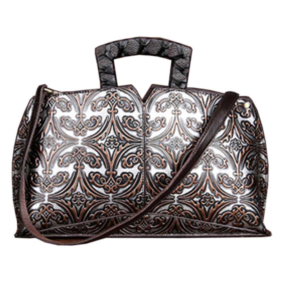 New Women Vintage Embossed Handbag Genuine Leather First Layer Cowhide Famous Brand Casual Messenger Shoulder Bags Handbags new women vintage embossed handbag genuine leather first layer cowhide famous brand casual messenger shoulder bags handbags