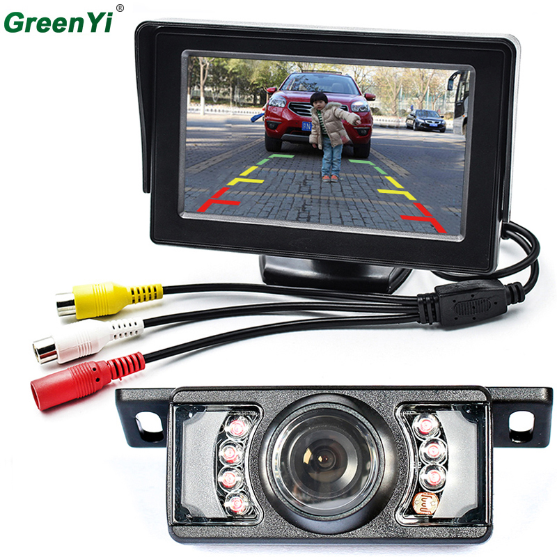 Car Parking Kit With 4 3 TFT LCD Display Car Monitor Rear View Mirror Monitor 7
