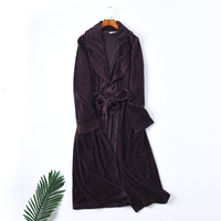 Women's Nightgowns Sleepwear winter Robe Women Sleep Robes Flannel bathrobe warm
