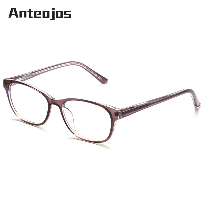 0233beb61 ANTEOJOS 2019 Blue Light Filter Computer Glasses Anti Radiation Clear Lens Eyeglasses  Vintage Transparent Eyewear For