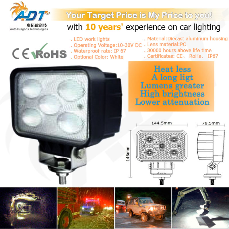 1pcs 10-30V DC 50W 5* Cr led 6000K 5.7 inch with EMC for ATV,Project Vehicles,SUV, Excavators,Wheel Loaders CE, RoHs, IP67 construction equipment backhoe skid steer loaders wheel loaders road roller service manuals for hyundai