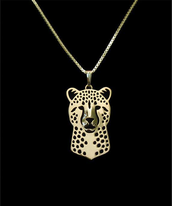 Unikátní ručně vyrobený Boho Chic gepard náhrdelník ženské a mužské dárkové šperky náhrdelník - 12ks / Lot (6 barev zdarma výběr)