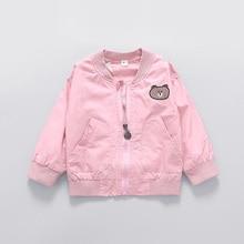 Casual Autumn Baby Girls Infant Kids Long Sleeve Princess Cartoon Bear Clothing Outwear Coats Cardigan Coat Casaco MT1432