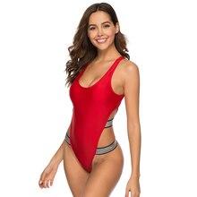 Swimwear Women One Piece Swimsuit Female 2019 Monokini Sexy Thong Solid Swimming for Women Bathing Suit Maillot De Bain Femme цены онлайн