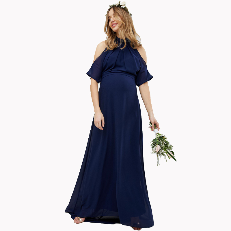 Lycra Maternity Maxi Dresses for Pregnant Women Clothes Long Pregnant Dress Evening Party Vestidos for Office Working Mommy