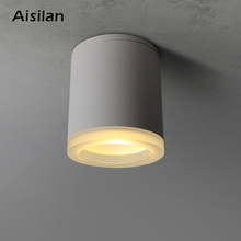 AisilanDaily lighting LED ceiling linght Nordic modern acrylic down light for living room corridor bedroom aluminum AC85-260V 9W