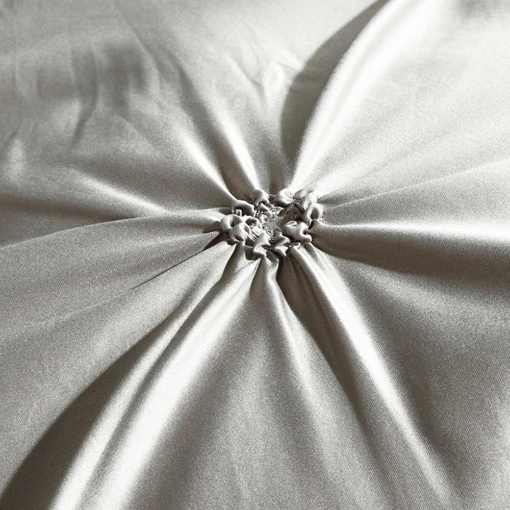 100% вареного шелка 2/3 шт./компл. защипы постельное белье класса люкс, белого, черного, серого цвета, постельное бельё Твин queen King Размеры без листа