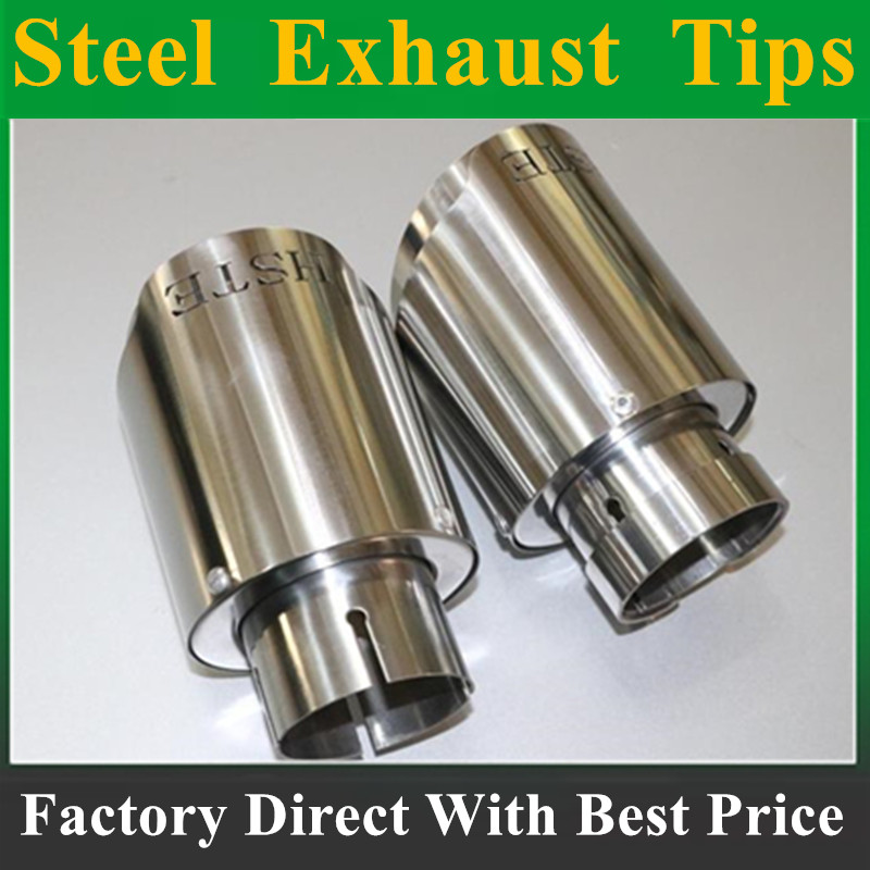 2017 NEW silvery Stainless Steel HSTE exhaust car Exhaust Tip car-styling exhaust pipe muffler tip Stainless Steel exhaust tip витамины solgar кальций магний цинк 100 таблеток