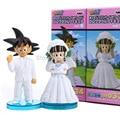 Аниме Dragon Ball Гоку ChiChi Свадьба ПВХ Фигурку Игрушки 8 см набор из 2 DBFG040
