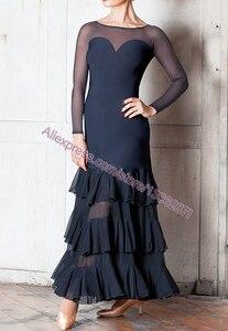 Image 3 - Vestidos de baile de competición de salón para mujer, falda de Flamenco barata, elegante, estándar, 2020