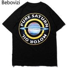 Bebovizi Men Pure Saturn Printed Tops Tees 2019 Streetwear Hip Hop T-shirt Casual Summer Fashion Short Sleeve Tshirts Back Print
