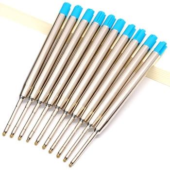 10pcs 0.5mm Roller Ballpoint Pen Refill Medium Nib Blue Black Color Ink Ball Pens Refill for School Office Writing Stationery 1