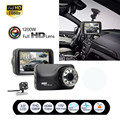 Tiptop 3inch Full HD 1080P Car DVR CCTV Dash Double Camera G-sensor WDR Recorder Car-styling Retail&Wholesale Free Shipping