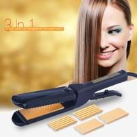 CkeyiN Professional Tourmaline Hair Curler Straightener Hair Corn Curling Iron Fast Straight Hair Corn Waver Corrugated