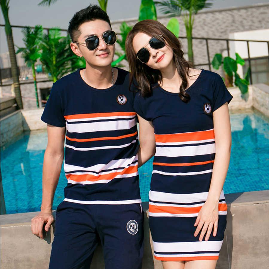 2020 летние футболки в полоску; одежда для мамы и дочки; платья для папы и сына; одинаковые Семейные комплекты для маленьких мальчиков и девочек