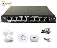 Gigabit Power Over Ethernet PoE Interruttore 7 porta PoE + 1 Porta UPlink Per CCTV Macchina Fotografica del IP di WiFi Access point 24V 48V