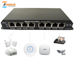 Gigabit Power Over Ethernet PoE Schalter 7 PoE port + 1 UPlink Port Für CCTV IP Kamera WiFi Access point 24V 48V