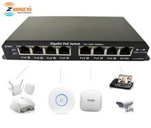 Gigabit Power Over przełącznik Ethernet PoE 7 port PoE + 1 Port UPlink dla kamera IP CCTV punkt dostępu sieci WiFi 24V 48V