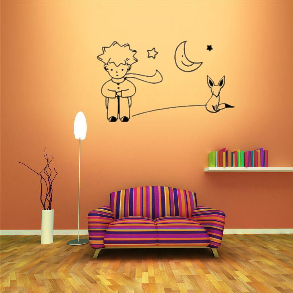 Limit buy On Sale Newest Little Prince Fox Moon Star Decor Mural ...