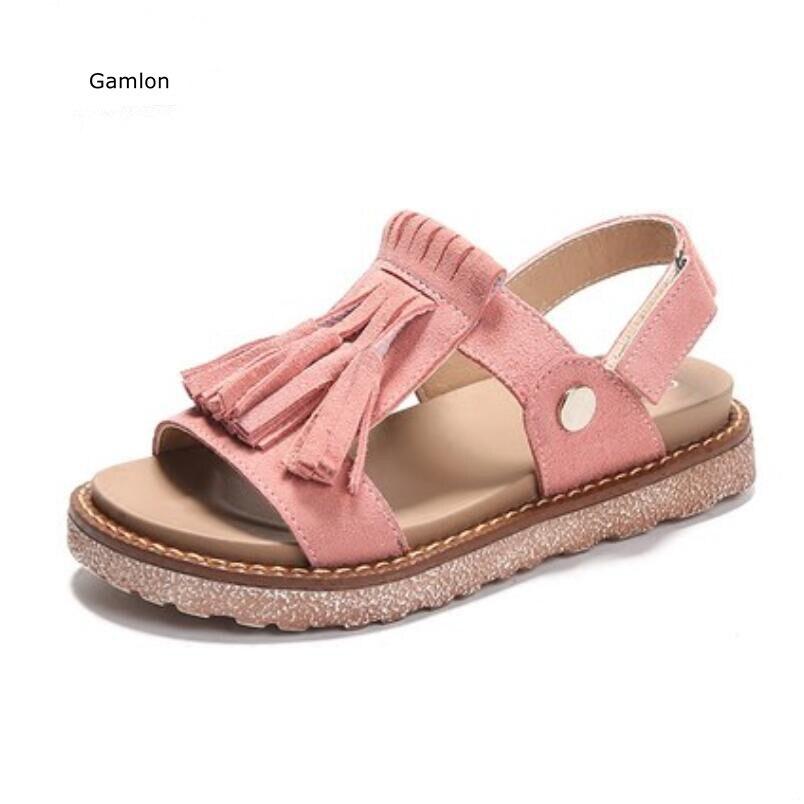 Gamlon Girls Sandals 2017 New Children Roman Shoe Korean Summer Girl Princess Shoes Big Boy Little Childrens Shoes Fringed