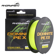 Angryfish Diominate PE X8 דיג קו 527YDS/500M 8 גידים קלועה דיג קו Multifilament PE קו 18 20 30 40 50 80LB