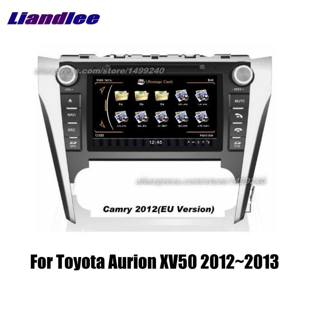 Liandlee 2din For Toyota Aurion XV50 2012~2013 Car Android Radio GPS Maps Navigation player BT WIFI HD Screen Multimedia System
