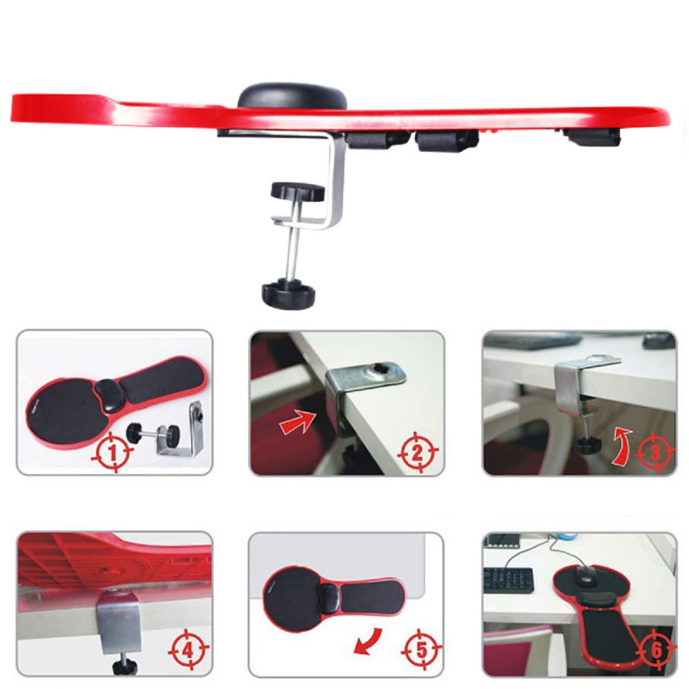 Image 5 - Adjustable Computer Wrist Rest Armrest Desk Chair Dual Purpose  Attachable Home