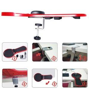 Image 5 - Einstellbar Computer Handgelenk Rest Armlehne Schreibtisch Stuhl Dual Zweck Aufsteckbaren Home & Office Arm Unterstützung Maus Pad Stand Schreibtisch Extender