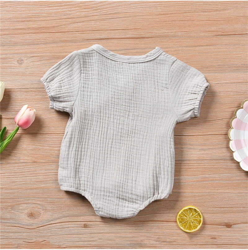 HTB1AfYdUwHqK1RjSZFEq6AGMXXaZ 0-18M Newborn Kids Baby Boy Girls Clothes Summer Short Sleeve Plain Romper Elegant Casual Cute lovely Outfits new born Sunsuit