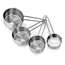 Coffee milk flour measuring spoon kitchen measurement tool calibration Cup stainless steel spoon 4 piece suit