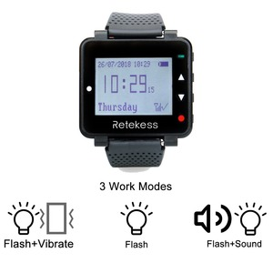 Image 4 - Retekess 433MHz Wireless Waiter Calling System Call Pager 1pcs Watch Receiver T128 + 10pcs Call Button T133 for Restaurant