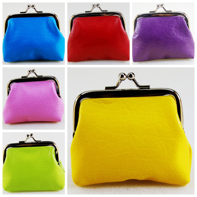 Candy color PU leather coin purse,women change purse,Mrs Buckles coins/key bag,girl clutch mini wallet purse,Female zero wallet